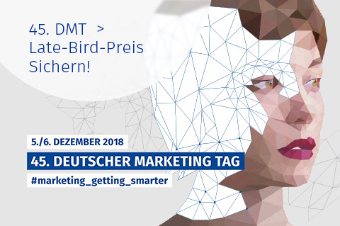 Marketing Club Region Stuttgart-Heilbronn: 45. DMT 2018 - Late Bird Preis Sichern!