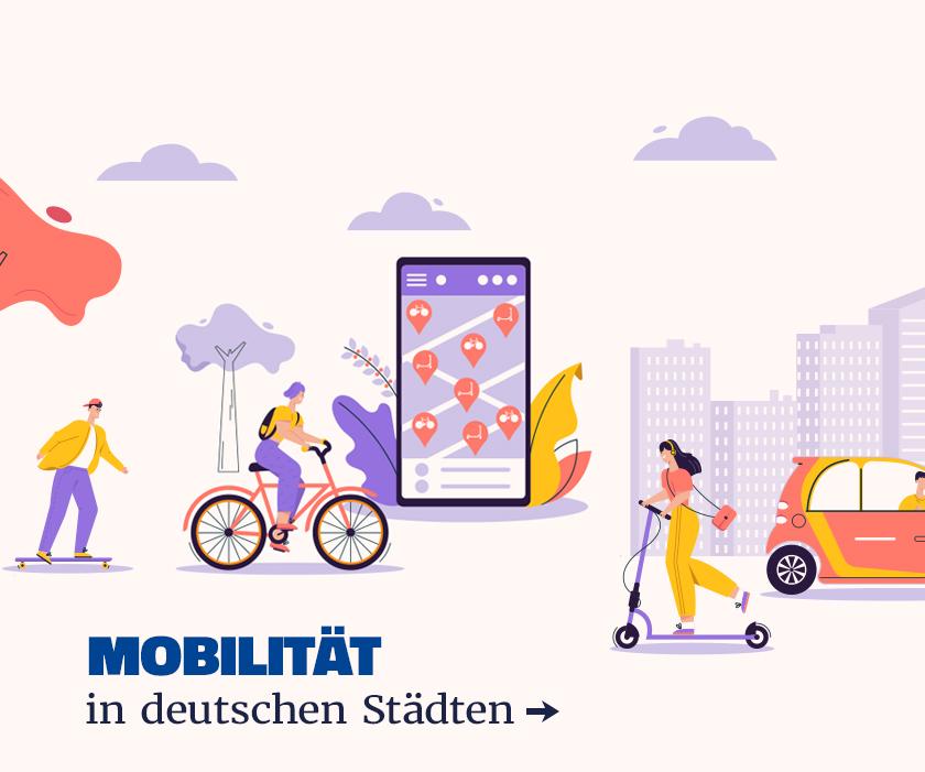 MCSH Slider: Mobilität in deutschen Städten
